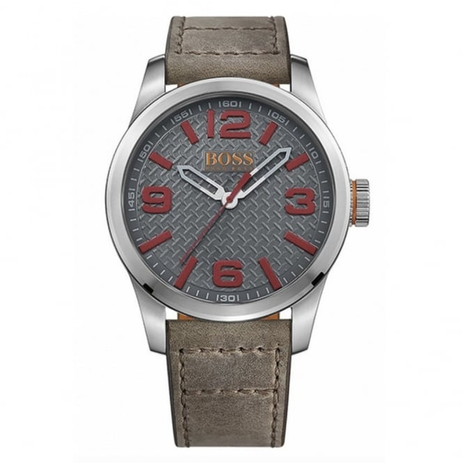 Hugo Boss Orange Men's S/Steel Leather Strap Paris Watch 1513351