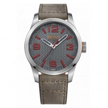 Hugo Boss Orange Men's S/Steel Leather Strap Paris Watch 1513351