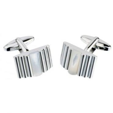 Jos Van Arx Oblong Silver Cufflinks CL27