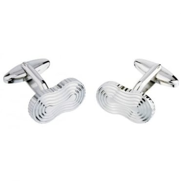 Jos Van Arx Oval Silver Plated Cufflinks CL42