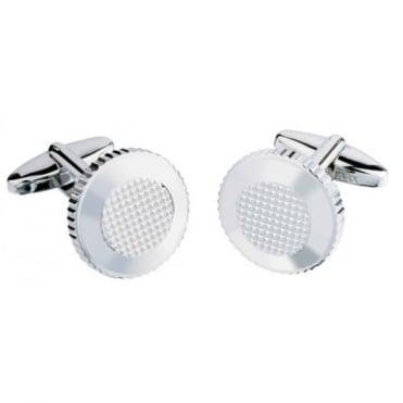 Jos Van Arx Round Silver Plated Cufflinks CL46