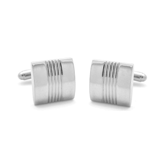 Square Silver Plated Cufflinks CL02