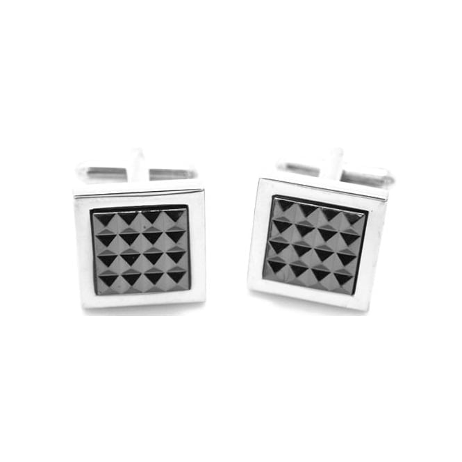 Square Silver Plated Cufflinks CL21