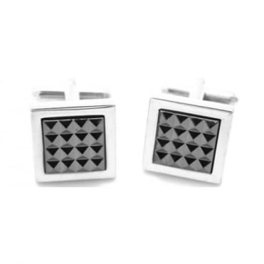 Jos Van Arx Square Silver Plated Cufflinks CL21
