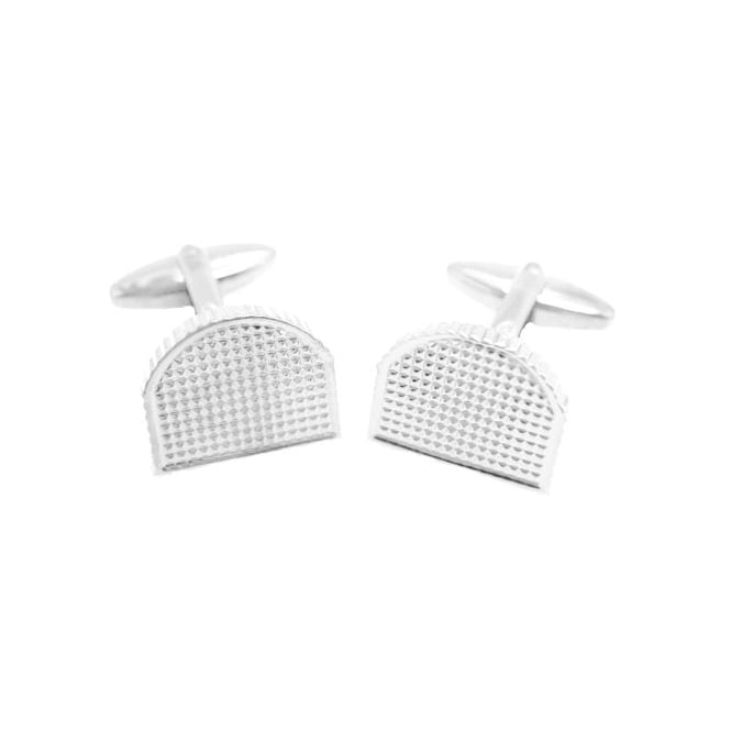 Square Silver Plated Cufflinks CL43