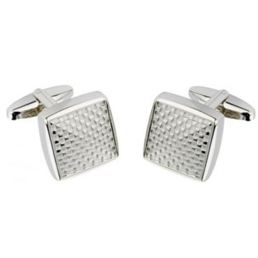 Square Silver Plated Cufflinks CL56