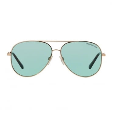Kendall Rose Gold Mirrored Sunglasses MK5016 102665