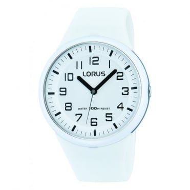 Kids White Silicone Watch RRX53DX9