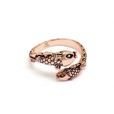Koi Fish Gold Plated Ring CRRT0512AR