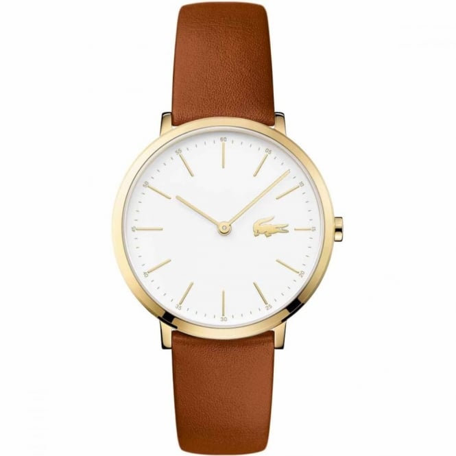 Lacoste Ladies' Gold Plate Brown Leather Watch 2000947