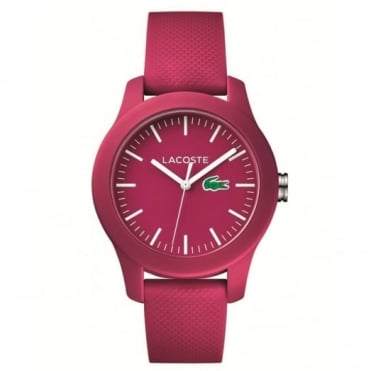 Lacoste Ladies' Pink Rubber 12.12 Watch 2000957