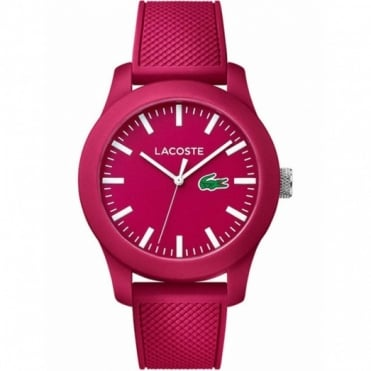 Lacoste Ladies' Pink Rubber 12.12 Watch 2010793
