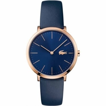 Lacoste Ladies' Rose Plate Blue Leather Watch 2000950