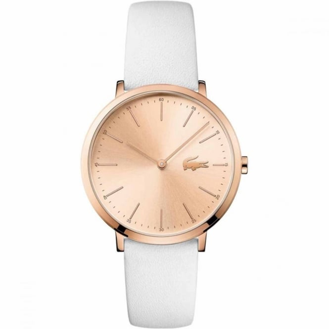 Lacoste Ladies' Rose Plate White Leather Watch 2000949