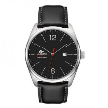 Lacoste Men's Black Leather Austin Watch 2010748