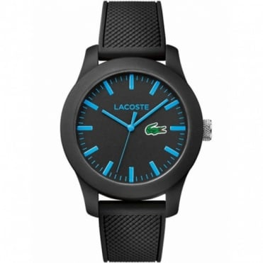 Lacoste Men's Black Rubber 12.12 Watch 2010791