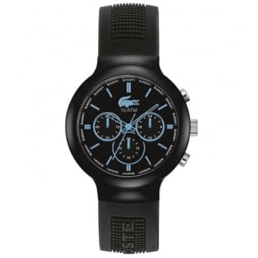 Lacoste Men's Black Rubber Borneo Watch 2010720