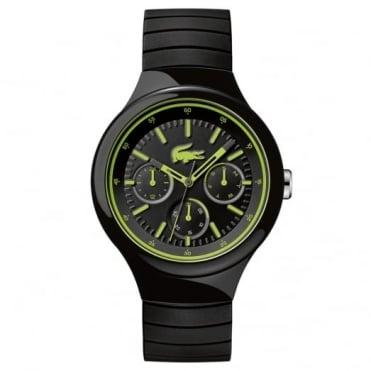 Lacoste Men's Black Rubber Multi Dial Borneo Watch 2010867