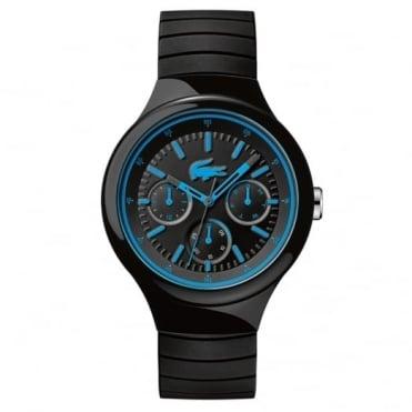 Lacoste Men's Black Rubber Multi Dial Borneo Watch 2010869