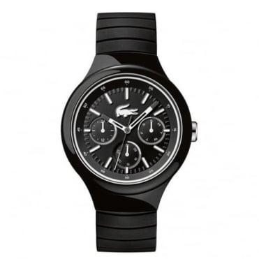 Lacoste Men's Black Rubber Multi Dial Borneo Watch 2010870