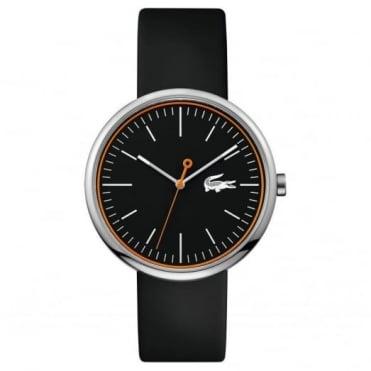 Lacoste Men's Black Rubber Orbital Watch 2010865