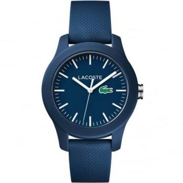 Lacoste Men's Blue Rubber 12.12 Watch 2000955