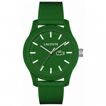 Lacoste Men's Green Rubber 12.12 Watch 2010763