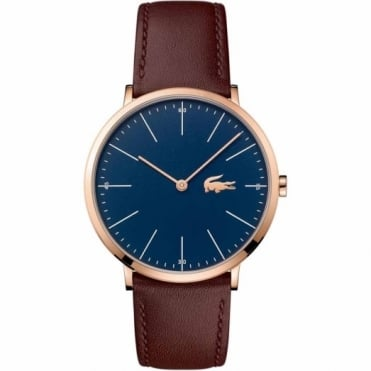 Lacoste Men's Rose Plate Brown Leather Watch 2010871
