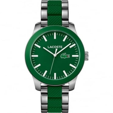 Men's S/Steel & Green Rubber 12.12 Watch 2010892