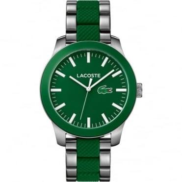 Lacoste Men's S/Steel & Green Rubber 12.12 Watch 2010892