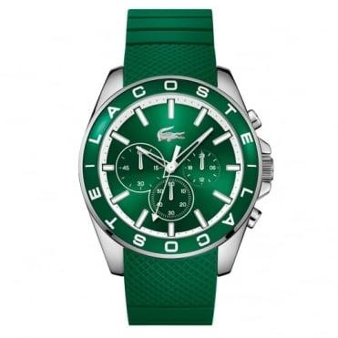 Lacoste Men's S/Steel Green Rubber Westport Chrono Watch 2010851