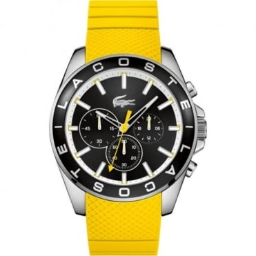 Lacoste Men's S/Steel Yellow Rubber Westport Chrono Watch 2010852