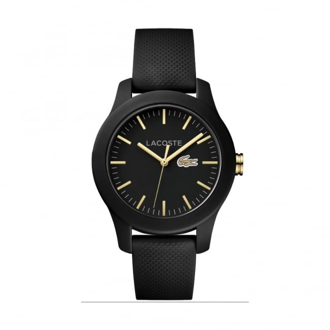 Unisex Black Rubber 12.12 Watch 2000959