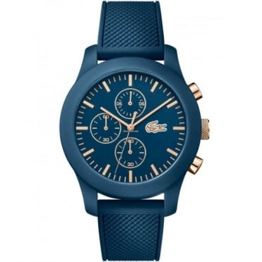 Lacoste Unisex Blue 12.12 Chronograph Watch 2010827