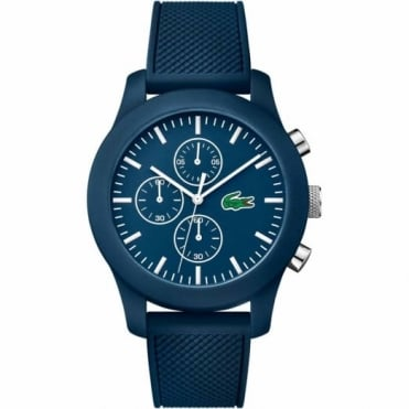 Lacoste Unisex Blue Rubber 12.12 Chrono Watch 2010824