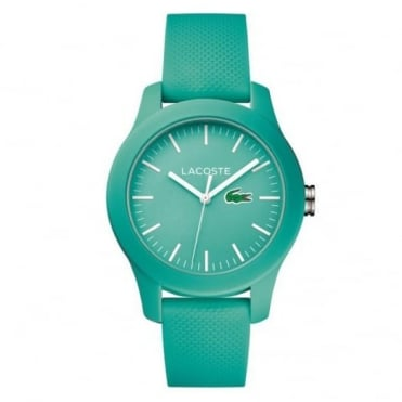 Lacoste Unisex Turquoise Rubber 12.12 Watch 2000958