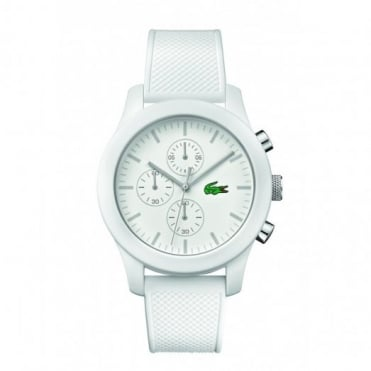 Lacoste Unisex White 12.12 Chronograph Watch 2010823