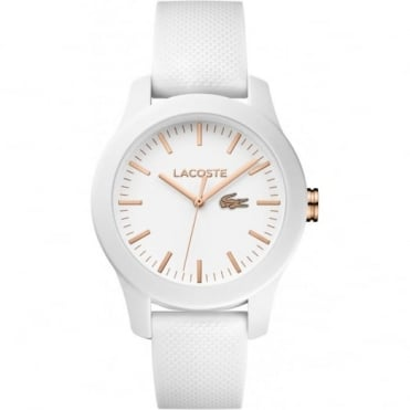 Lacoste Unisex White Rubber 12.12 Watch 2000960