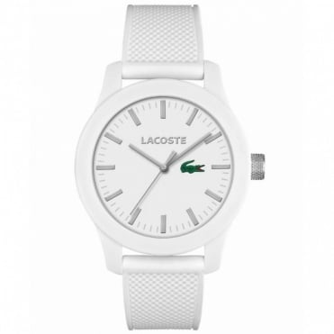 Lacoste Unisex White Rubber 12.12 Watch 2010762