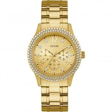 Ladies' Bedazzle Gold Plated Watch W1097L2