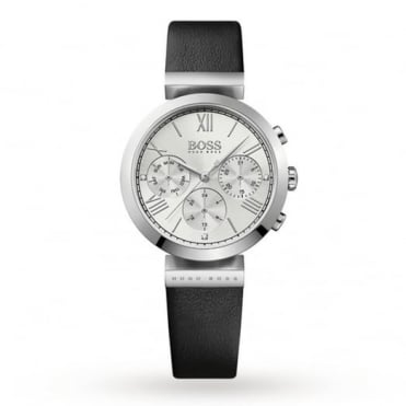 Ladies' Black Leather Classic Sport Watch 1502395