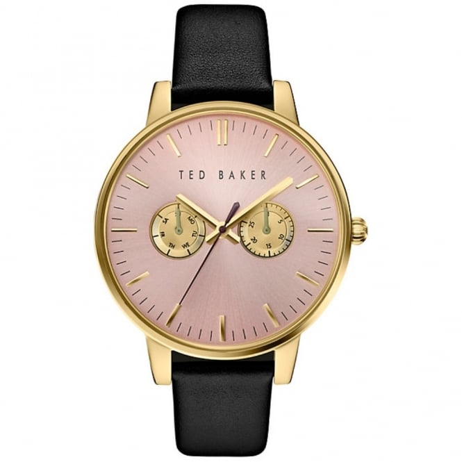 Ladies' Black Leather Liz Watch TE10030749