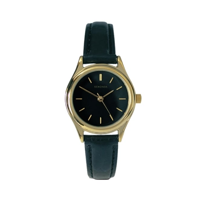Sekonda Ladies Black Leather Watch 4617