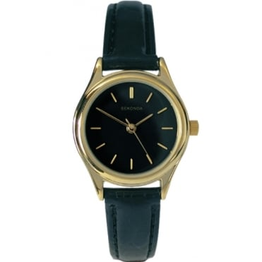 Ladies' Black Leather Watch 4617