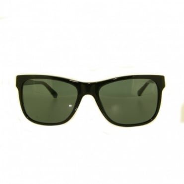 Ladies Black & White Sunglasses EA4002 501787 55
