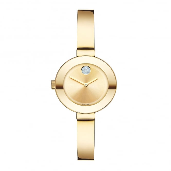 Ladies' Bold Gold Plate Bangle Watch 3600285