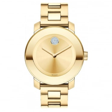 Ladies' Bold Gold Plate Watch 3600104