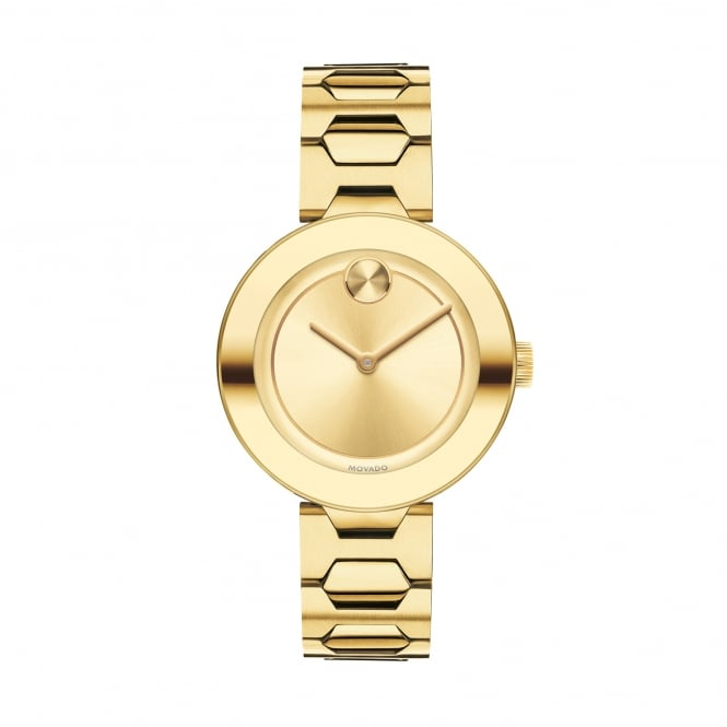 Ladies' Bold Luxe Gold Plate Stone Set Watch 3600255