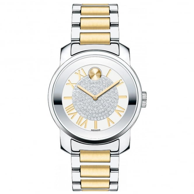 Ladies' Bold Luxe Two Tone Stone Set Watch 3600256