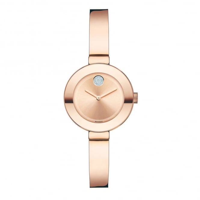 Ladies' Bold Rose Plate Bangle Watch 3600286
